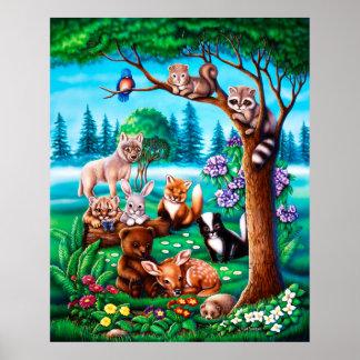 Poster de los amigos del bosque