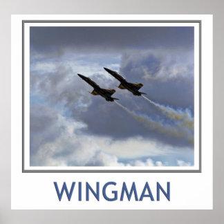 Poster de los ángeles azules del Wingman