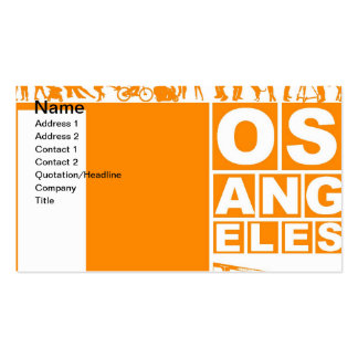 Poster de Los Ángeles en color anaranjado Tarjetas De Visita