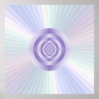 poster de los anillos concéntricos de la Estrella-