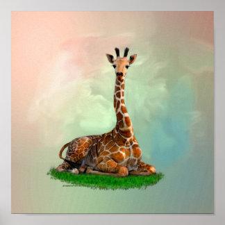 Poster de los animales salvajes de la fauna de la