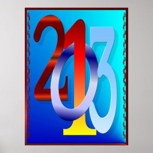 poster de los Años Nuevos 2013-Happy