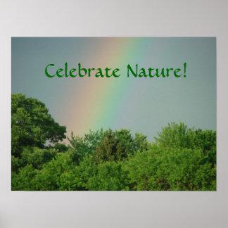 Poster de los árboles del Día de la Tierra y del d