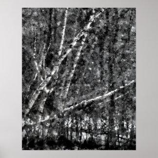 Poster de los árboles del invierno