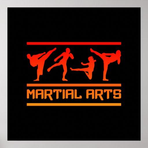 ¡Poster de los artes marciales - personalizar! Póster