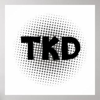 Poster de los artes marciales TKD