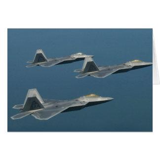 Poster de los aviones del rapaz de F-22A Tarjeta