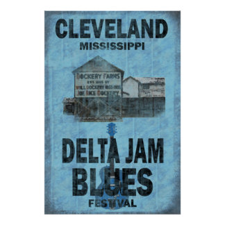 Poster de los azules de Cleveland Mississippi