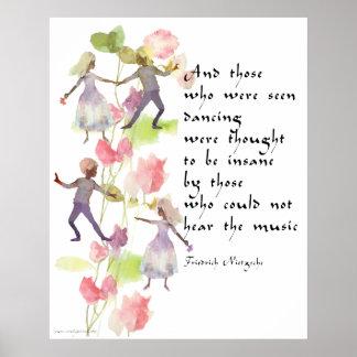 Poster de los bailarines de la acuarela