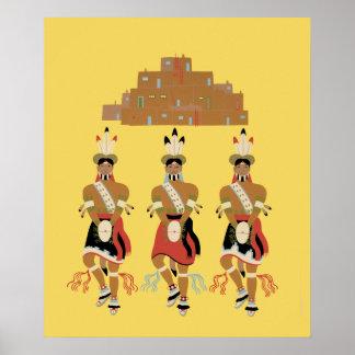 Poster de los bailarines de la tortuga del pueblo