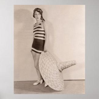 Poster de los bañadores del vintage - 1780221-1