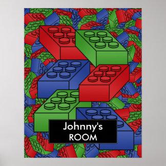 Poster de los bloques huecos para el sitio de un n