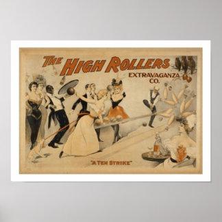 Poster de los bolos del vintage