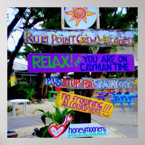 Poster de los caimanes del punto del ron