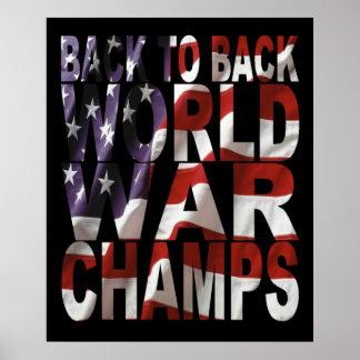 Poster de los campeones de la guerra mundial de la
