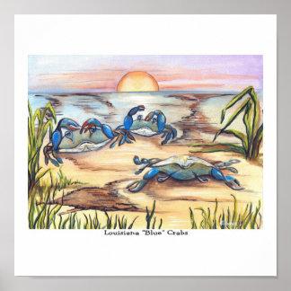 Poster de los cangrejos azules de Luisiana