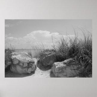 Poster de los cantos rodados de la playa