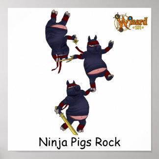 Poster de los cerdos de Wizard101 Ninja