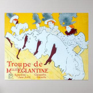 Poster de los chicas de baile de Toulouse-Lautrec