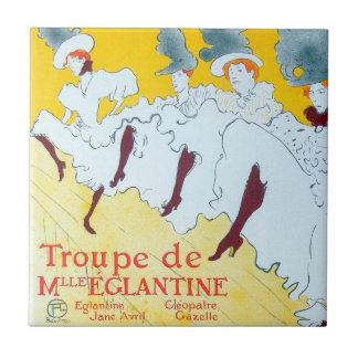 Poster de los chicas de baile de Toulouse-Lautrec Teja