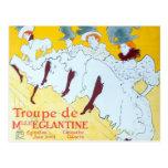 Poster de los chicas de baile de Toulouse-Lautrec Postal
