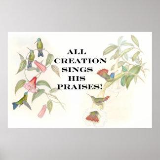 Poster de los colibríes de Goulds Póster