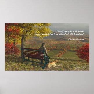 Poster de los compañeros del otoño con cita
