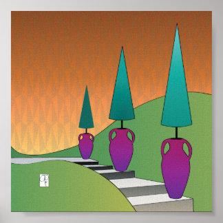 Poster de los conos del Topiary