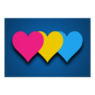 Poster de los corazones del orgullo de Pansexualit