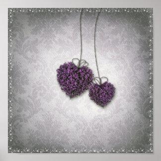 Poster de los corazones púrpuras