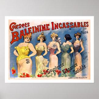 Poster de los corsés de las señoras