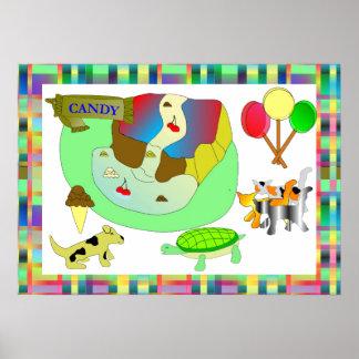 Poster de los Critters del caramelo