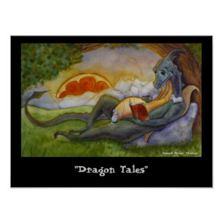 """""""Poster de los cuentos del dragón"""" Póster"""