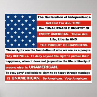 Poster de los derechos de los homosexuales