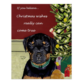 Poster de los deseos del navidad