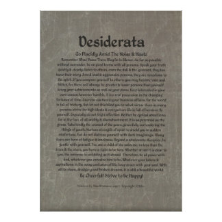 Poster de los DESIDERÁTUMS por Ehrmann máximo MUCH