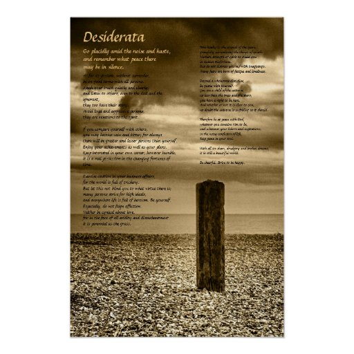 Poster de los desiderátums - tengo tiempo