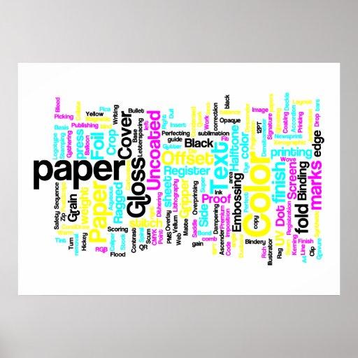 Poster de los diseñadores de CMYK