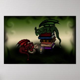 poster de los dragones de la biblioteca