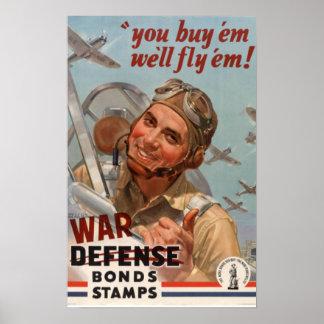 Poster de los enlaces de guerra de la Segunda Guer