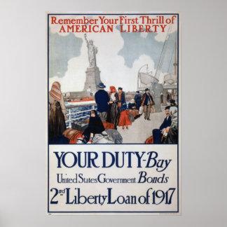 Poster de los enlaces de guerra de los E.E.U.U. WW