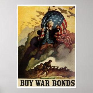 Poster de los enlaces de guerra del vintage WW2