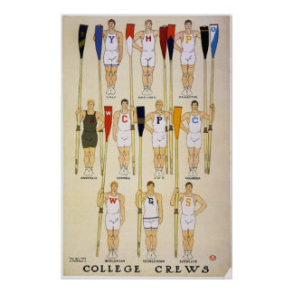 Poster de los equipos y de los colores de la unive