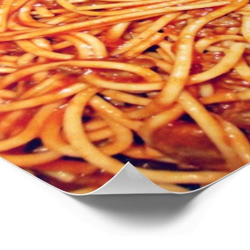 Poster de los espaguetis