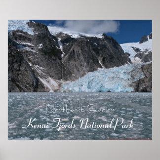 Poster de los fiordos de Kenai del glaciar de Alas Póster