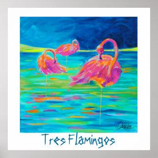 Poster de los flamencos de Tres