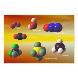 Poster de los gases de efecto invernadero fotografía