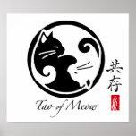 Poster de los gatos de Yin Yang
