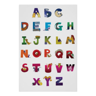 Poster de los gatos del alfabeto de Grotke