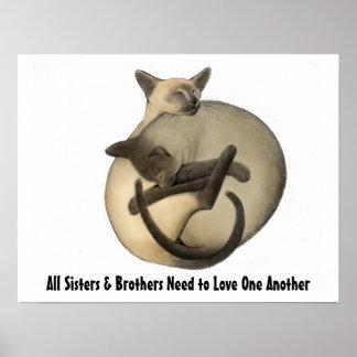 Poster de los gatos del amor